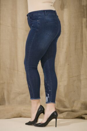 mėlynos spalvos moteriški džinsai 02