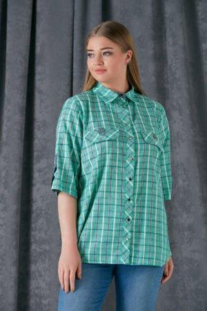 žalios spalvos dryžuoti marškiniai
